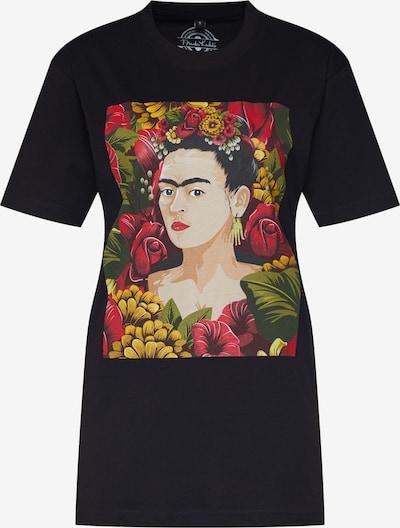 Merchcode T-Krekls 'Frida Kahlo Portrait' pieejami jauktu krāsu / melns, Preces skats