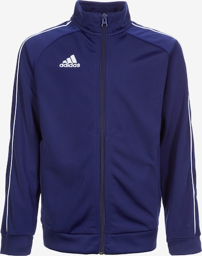 ADIDAS PERFORMANCE Trainingsjacke 'Core' in dunkelblau / weiß, Produktansicht