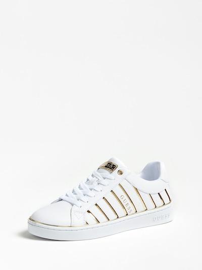 GUESS Sneaker in gold / weiß, Produktansicht