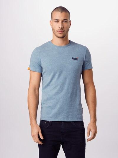 Superdry Shirt in hellblau / dunkelblau / orange: Frontalansicht