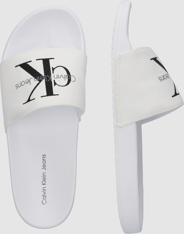 ad37e969ce Calvin Klein Jeans Papucs fehér színben | ABOUT YOU