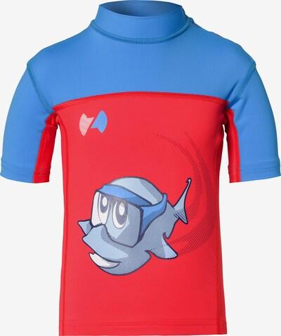 HYPHEN Schwimmshirt in blau / hellblau / rot, Produktansicht