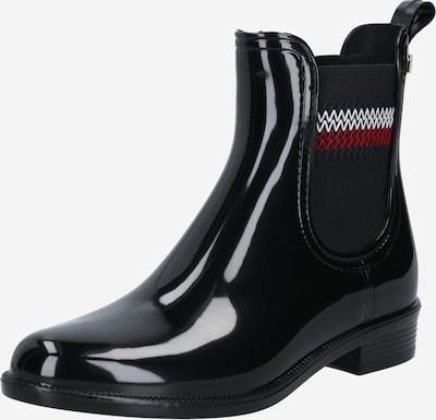 TOMMY HILFIGER Gumijasti škornji | črna barva, Prikaz izdelka