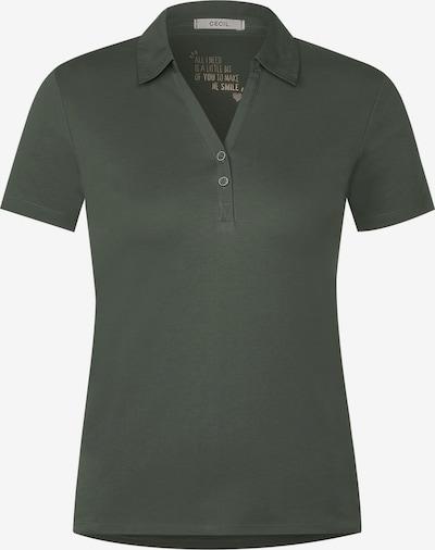 CECIL Polo-Shirt in Unifarbe in grün, Produktansicht