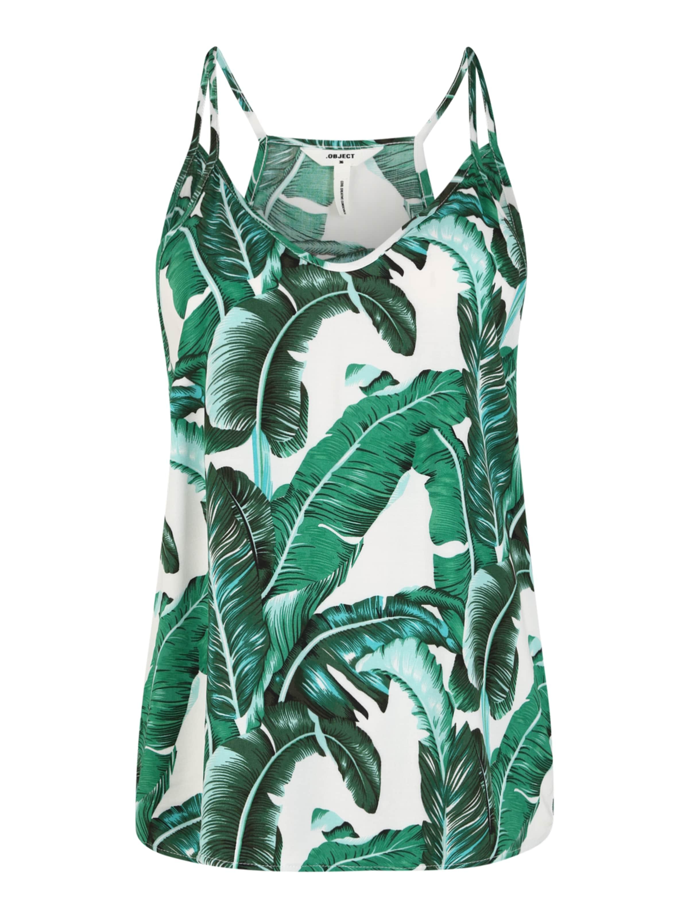 OBJECT (Tall) Topp 'Palmina' i grön / vit