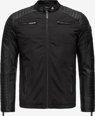 Redbridge Jacke Kalifornien mit gesteppten Elementen in schwarz, Produktansicht