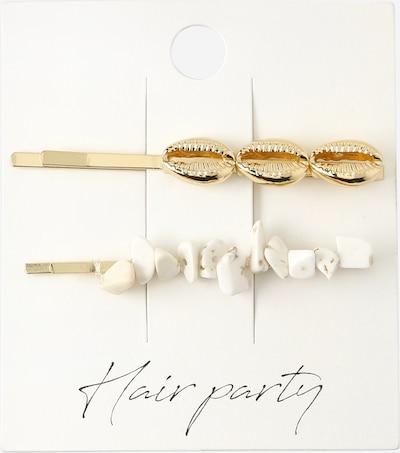 Orelia Haarschmuck in gold / weiß, Produktansicht