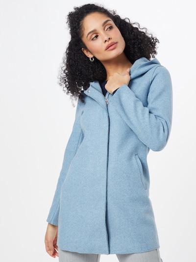 ONLY Mantel 'ONLSIRI BONDED HOOD COAT' in rauchblau, Modelansicht
