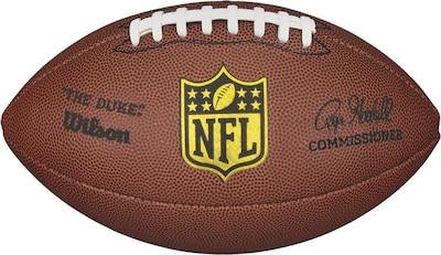 WILSON Football 'NFL Duke Replica' in braun / gelb / schwarz / weiß, Produktansicht