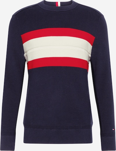 TOMMY HILFIGER Trui in de kleur Donkerblauw / Rood / Wit, Productweergave