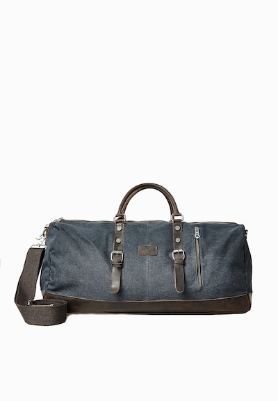 DREIMASTER Reisetasche in taubenblau / schoko, Produktansicht
