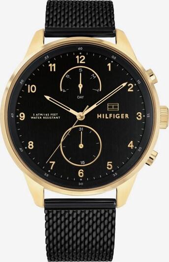 TOMMY HILFIGER Uhr 'Casual' in gold / schwarz, Produktansicht