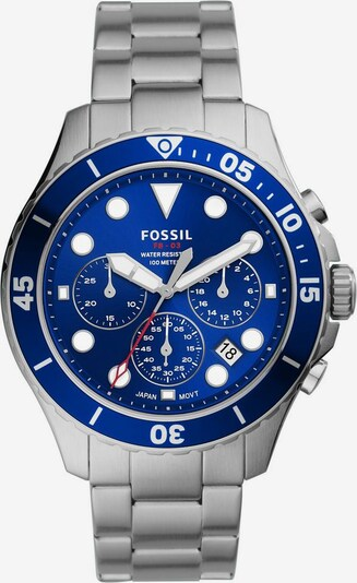 Ceas analogic FOSSIL pe albastru / argintiu, Vizualizare produs