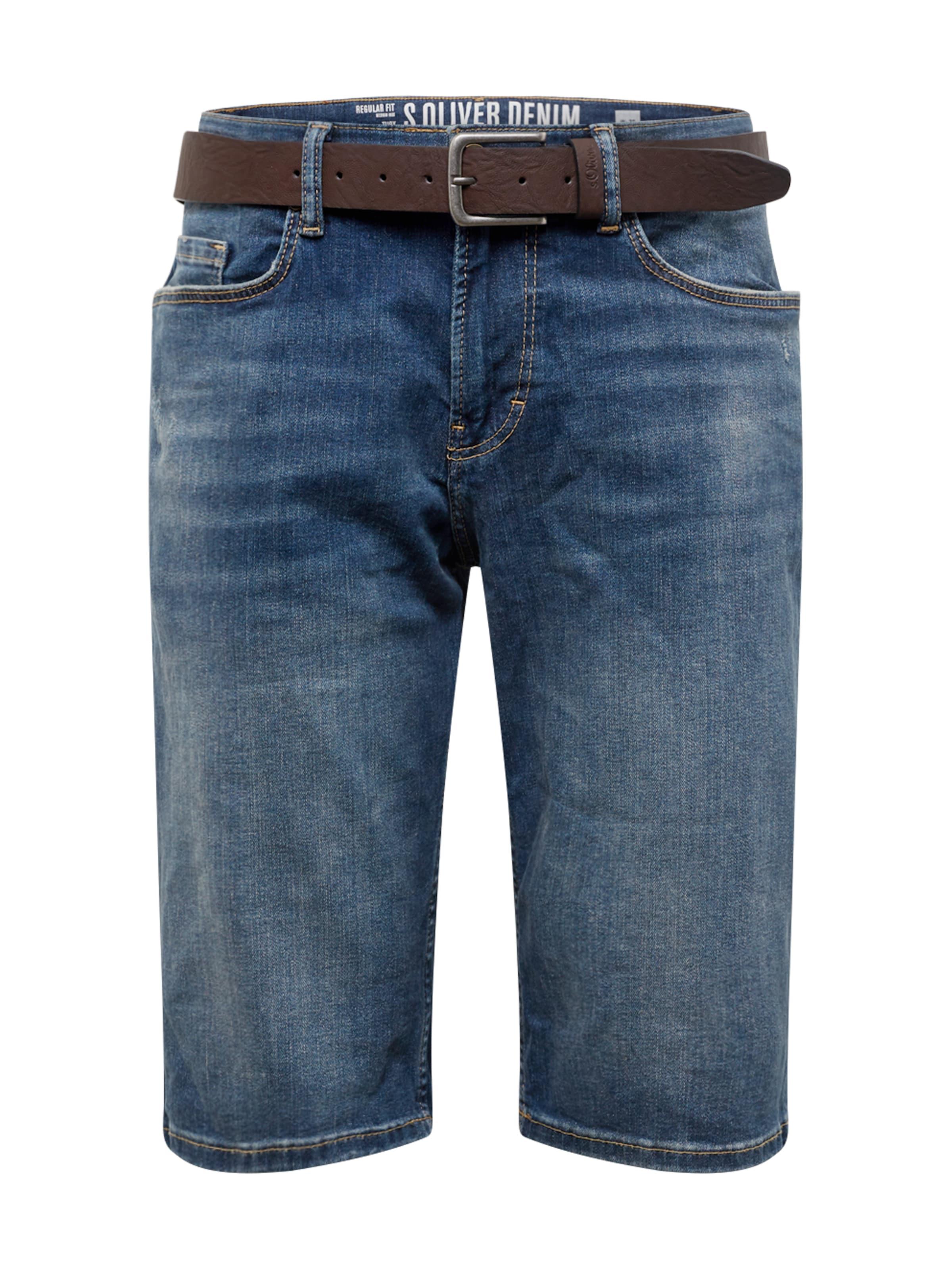 oliver Red En Bleu S Label Denim Jean wym8nOvN0