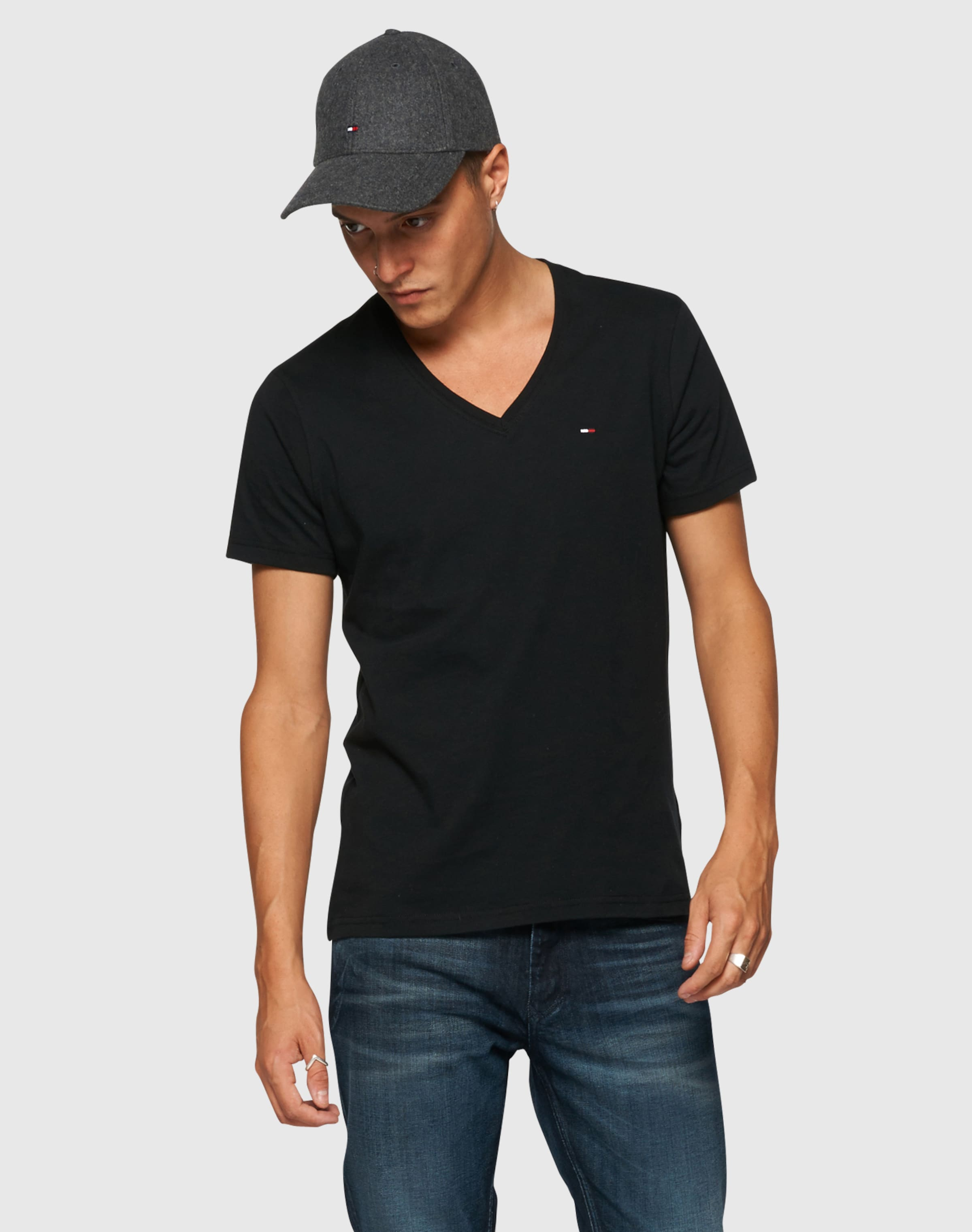Freies Verschiffen Bester Verkauf Genießen Online-Verkauf Tommy Jeans T-Shirt mit V-Ausschnitt 'Original' Auslass Bester Verkauf Gutes Verkauf Günstiger Preis Erhalten Authentisch Günstig Online VzQwDux