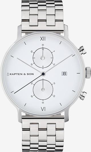 Kapten & Son Armbanduhr 'Chrono Silver Steel' in silber / weiß, Produktansicht