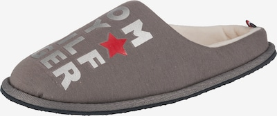 TOMMY HILFIGER Slipper in taupe / rot / silber, Produktansicht