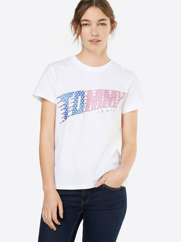 Tommy Jeans T-Shirt 'AMERICAN FLAG LOGO'