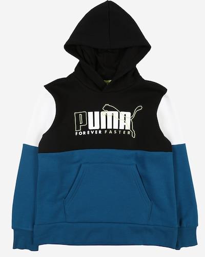 PUMA Sportsweatshirt 'Alpha' in marine / schwarz / weiß, Produktansicht