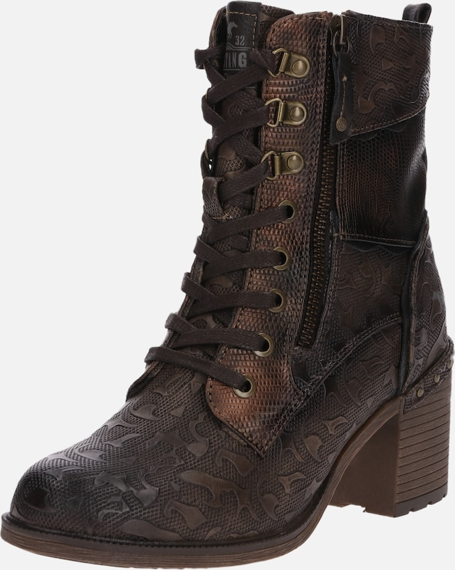 Mustang À En Lacets Marron Bottines gYv76fIbmy