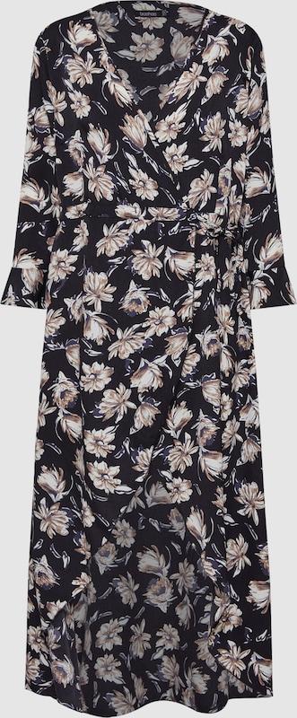 Boohoo Kleider 'Floral Wrap Maxi Dress' in schwarz   weiß  Neue Kleidung in dieser Saison