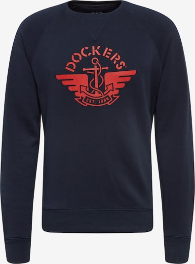 Dockers Sweatshirt in de kleur Donkerblauw / Rood, Productweergave