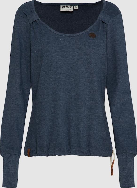 Naketano Sweatshirt 'Big Dudelsack Flavour' in dunkelblau  Freizeit, schlank, schlank