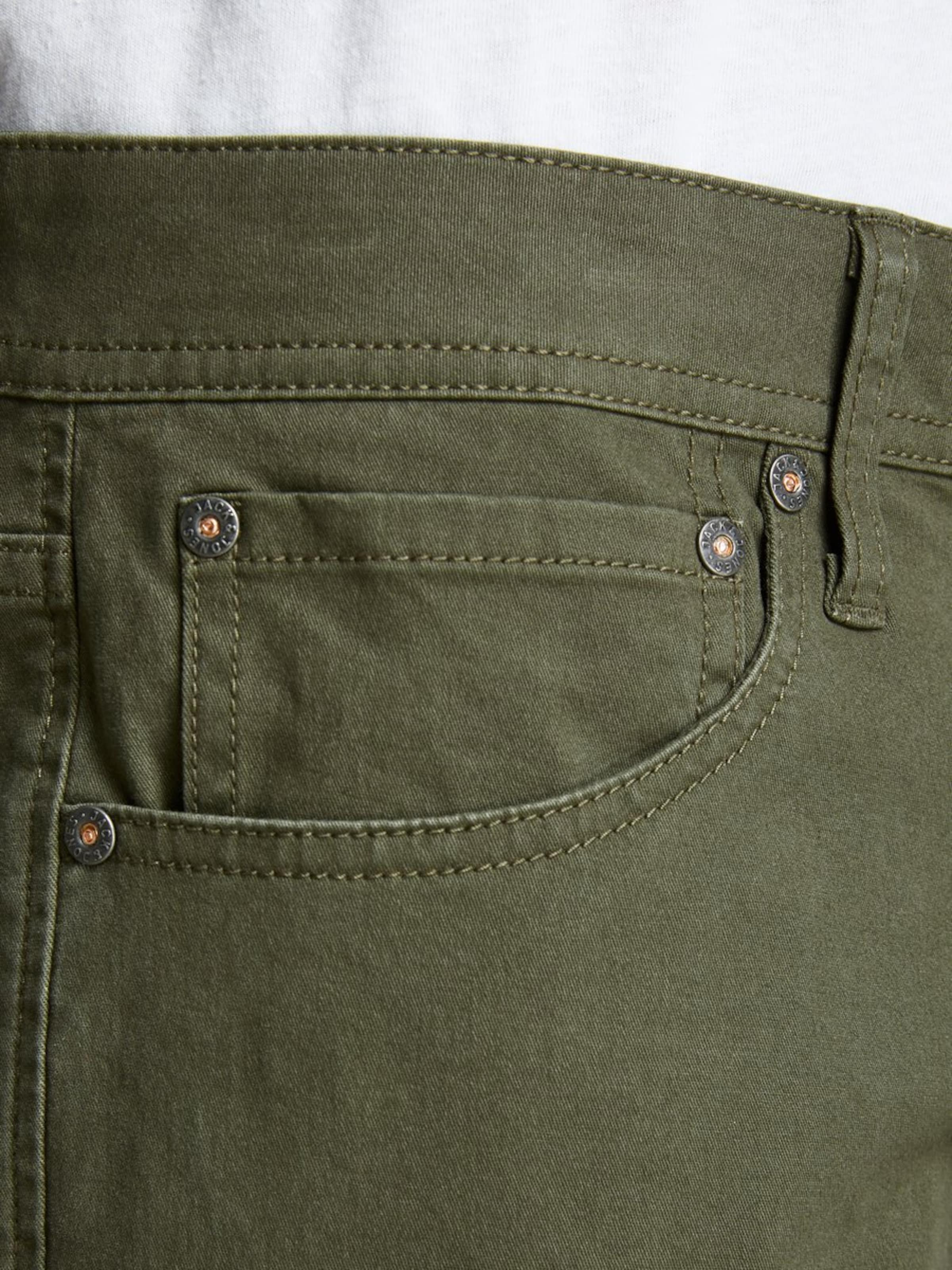JACK & JONES Jeans 'Rick' i khaki