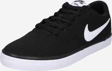 Nike SBNiske tenisice 'Check Solarsoft Canvas Skateboarding' - crna boja