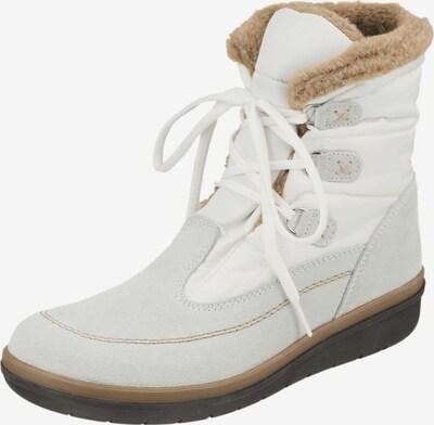 Natural Feet Snowboots 'Edura' in de kleur Ecru / Lichtgrijs / Wit, Productweergave