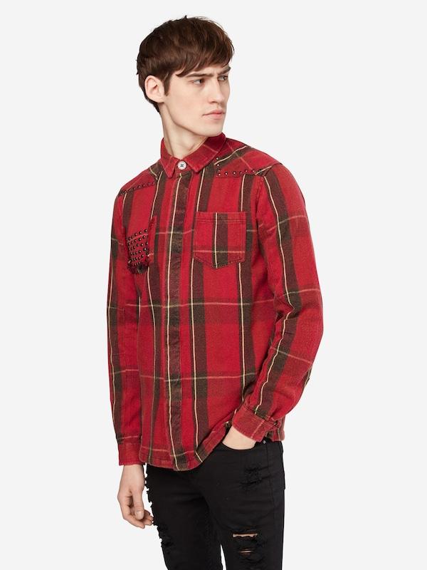 tigha Holzfällerhemd mit Nietendetails