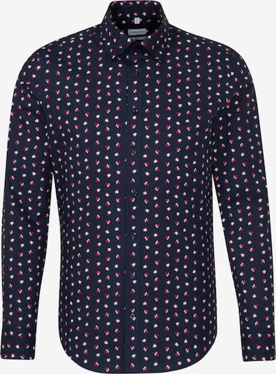 SEIDENSTICKER Hemd in nachtblau / rot / weiß, Produktansicht