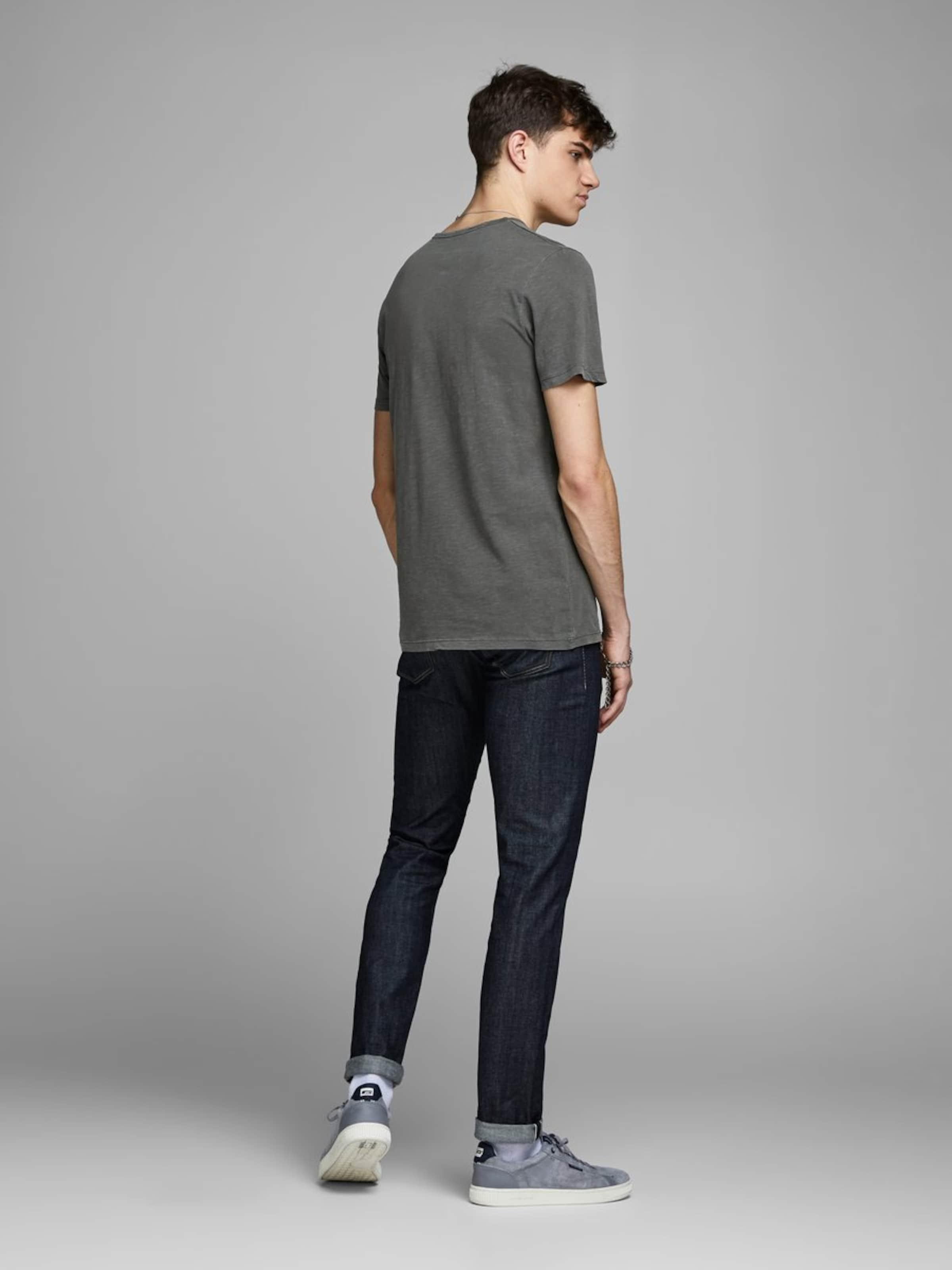shirt Tee Split T Ss Jackamp; Jones 'jprbenjamin Neck' Rauchgrau In wXkOPZiuT