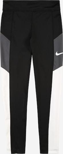 NIKE Sportske hlače 'TROPHY' u siva / crna / bijela, Pregled proizvoda