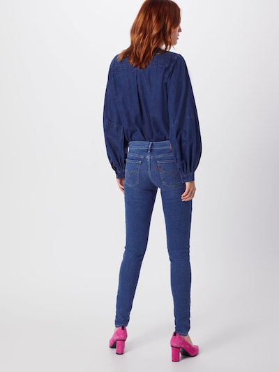 LEVI'S Jeans '710 INNOVATION SUPER SKINNY' in blue denim: Rückansicht