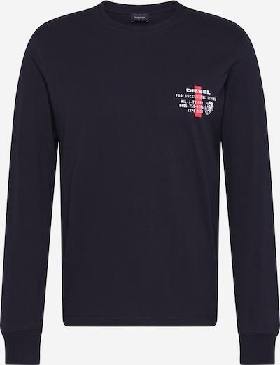 DIESEL T-Shirt 'DIEGO' en grenadine / noir / blanc, Vue avec produit