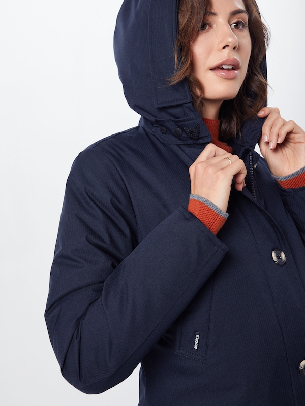 AIRFORCE Parka '4 Pocket Herringbone' in navy | ABOUT YOU