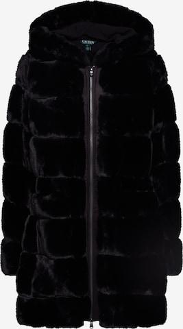 Lauren Ralph Lauren Płaszcz zimowy 'HD STK FXFUR-JACKET' w kolorze czarny