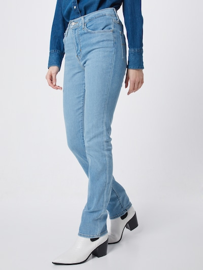 LEVI'S Jeans '724™ High Rise Straight' in de kleur Blauw denim, Modelweergave