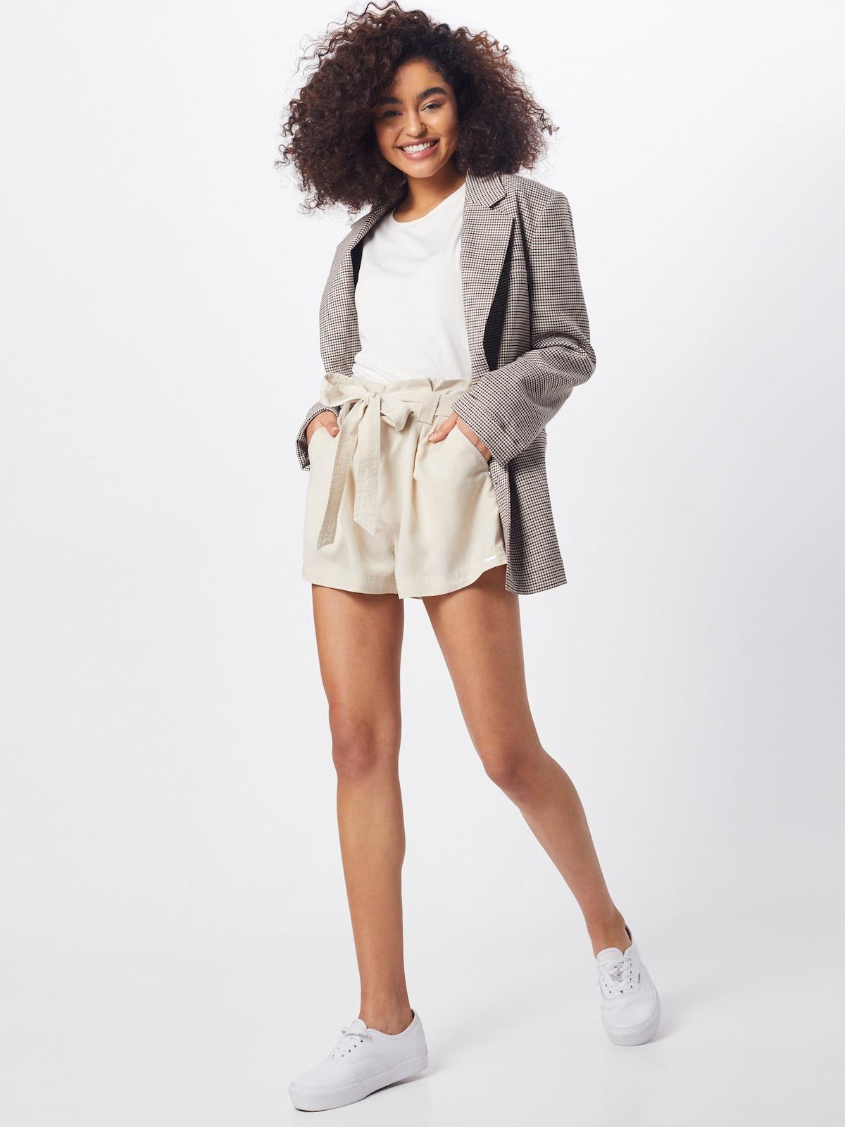 Beliebt Frauen Bekleidung Superdry Hose 'DESERT PAPER BAG SHORTS' in beige Zum Verkauf