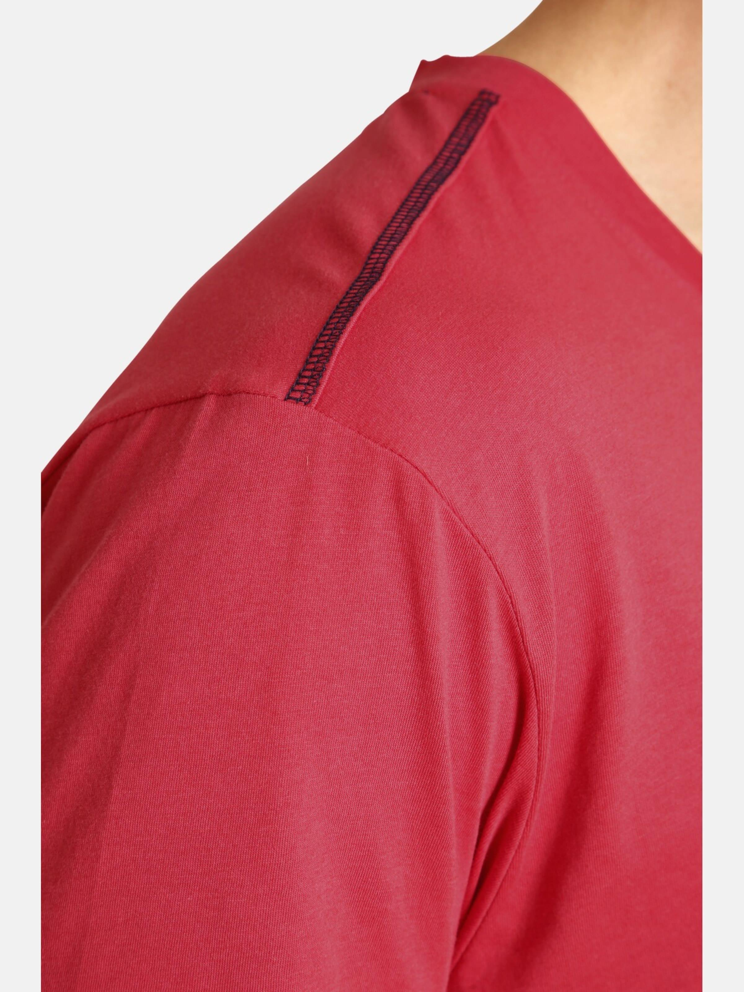 T 'samu' In Jan Vanderstorm shirt DunkelblauHellrot m0vNw8n