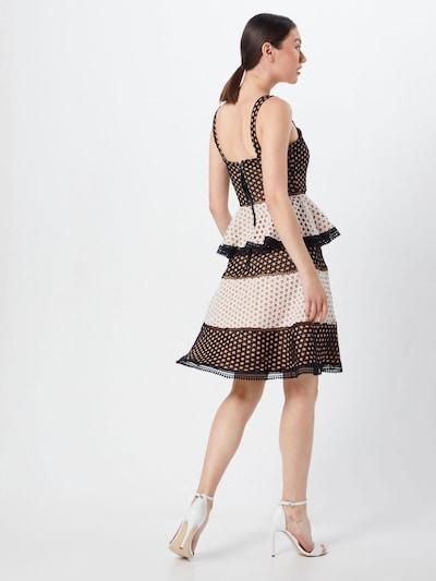 MICHALSKY FOR ABOUT YOU Robe de cocktail 'Alisa' en noir / blanc: Vue de dos