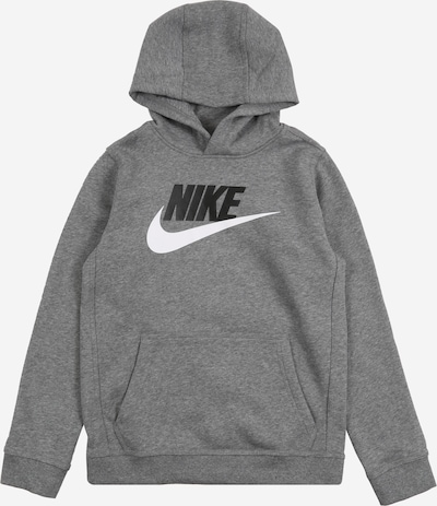 Nike Sportswear Sweatshirt 'CLUB' in grau / schwarz, Produktansicht