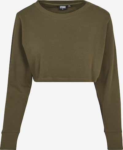 Urban Classics Cropped Crew in oliv: Frontalansicht