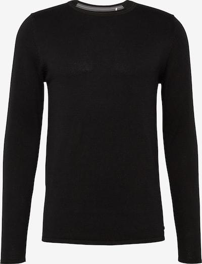 EDC BY ESPRIT Trui 'basic cnk' in de kleur Zwart, Productweergave