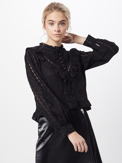 The Kooples Bluse 'TOP' in schwarz: Frontalansicht