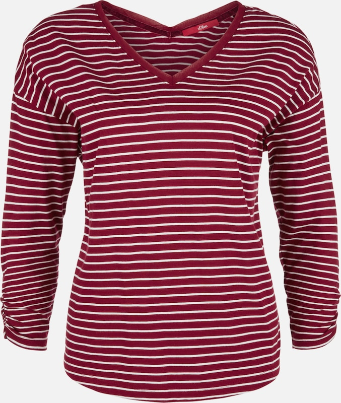 S Label Shirt Red oliver Weiß Rot qSqHvw