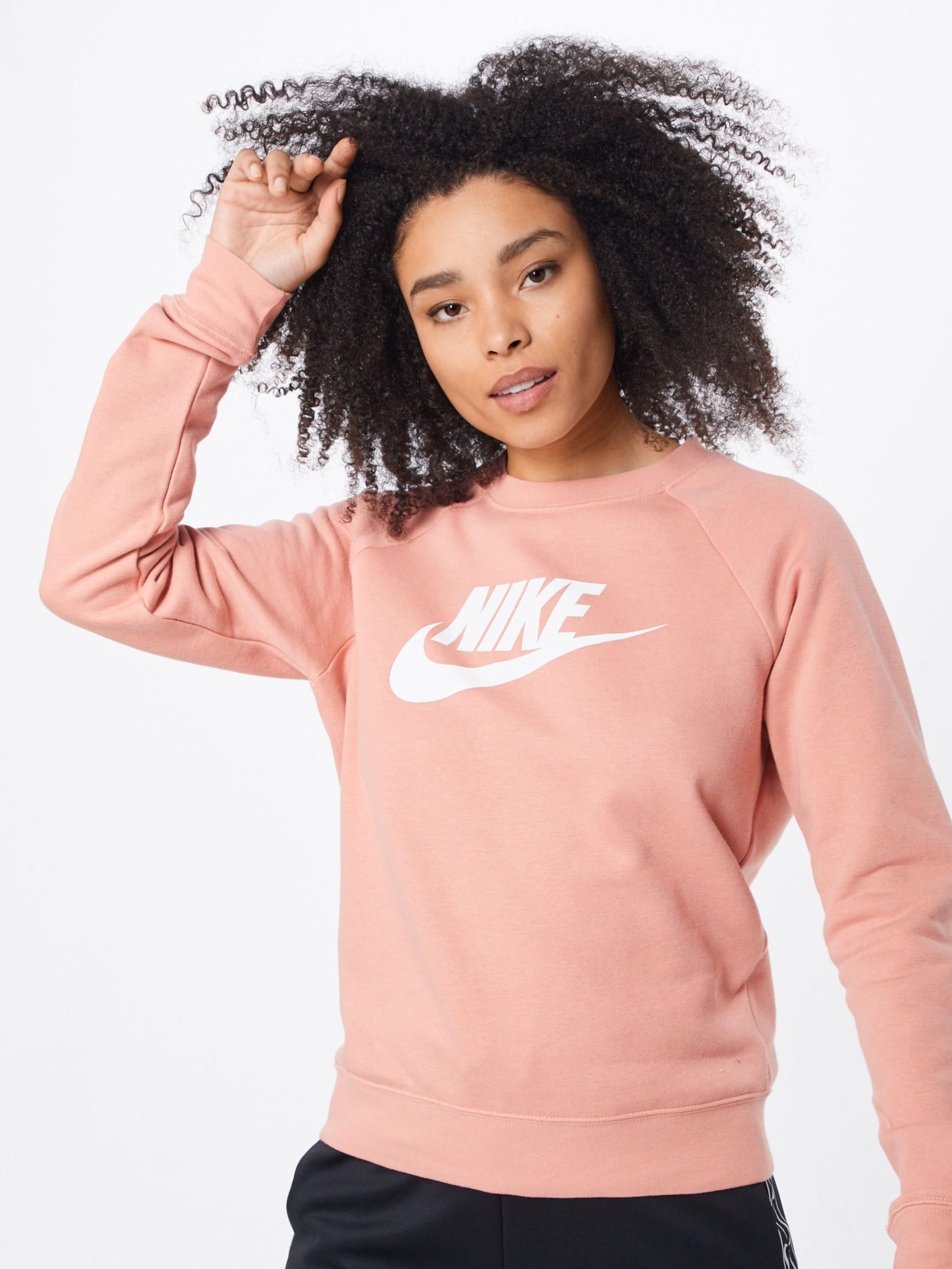 shirt Nike Sweat En 'essntl' Sportswear Rose 35ARL4jqc