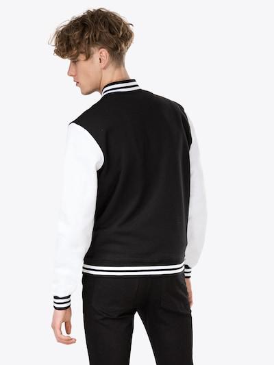 Urban Classics Jacke in schwarz / weiß: Rückansicht