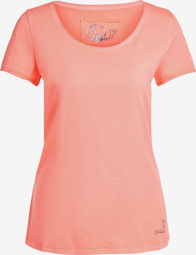 OUI T-Shirt in neonorange, Produktansicht